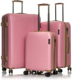 Комплект пластиковых чемоданов V&V Travel PC 064 pink
