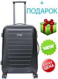 Пластиковый чемодан V&V Travel CT8300-65 black