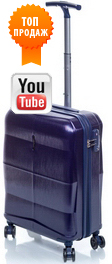 Чемодан из поликарбоната V&V Travel Rhombus PC091-55 blue