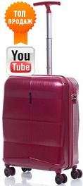 Чемодан из поликарбоната V&V Travel Rhombus PC091-55 bordo