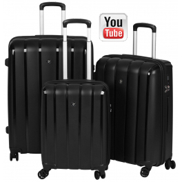 Комплект чемоданов 2E Youngster 2E-SPPY-SET-BK
