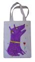 """Сумка ручной работы """"Фиолетовый собака"""""""
