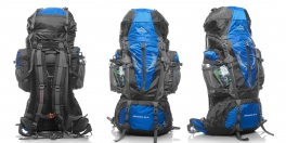 Туристический рюкзак 80+5 литров синий