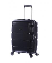 Пластиковый чемодан с расширением Puccini PP007 8020 черный