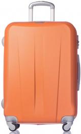 Легкий пластиковый чемодан Puccini Paris 7924;08 оранжевый