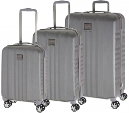 Комплект чемоданов March Fly Y1104;18 серебро