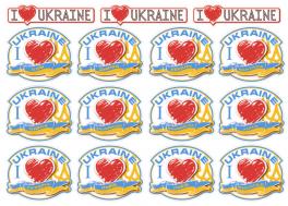 Набор наклеек города Украины  U-001