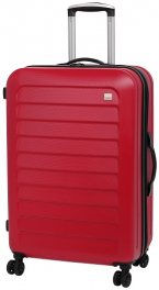 Пластиковый чемодан Members Chevron (M) Red 924156