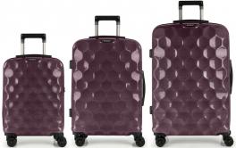 Комплект чемоданов из поликарбоната Gabol Air (L,M,S) Burgundy