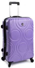 Легкий пластиковый чемодан Heys EcoOrbis (M) Lilac 926714