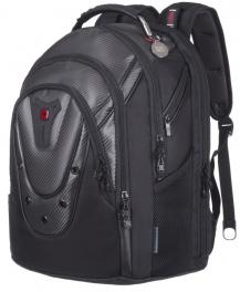 Рюкзак повседневный WENGER Ibex 125th 17'' Black Carbon 605498