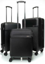 Комплект из 3-х чемоданов V&V Travel CTH 021 black