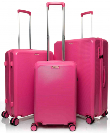 Комплект из 3-х чемоданов V&V Travel PC023 pink