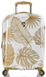 Чемодан из поликарбоната Heys Oasis (S) White/Gold Leaf 927100