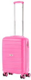 Чемодан из полипропилена TravelZ Big Bars (S) Pink 927273
