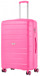 Чемодан из полипропилена TravelZ Big Bars (L) Pink 927275
