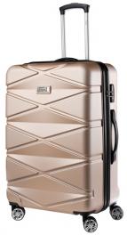 Пластиковый чемодан TravelZ Diamond (M) Champagne 927258
