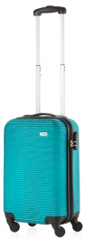 Пластиковый чемодан TravelZ Horizon (S) Aqua 927231