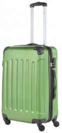 Пластиковый чемодан TravelZ Light (M) Khaki/Green 927247