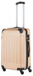 Пластиковый чемодан TravelZ Light (M) Champagne 927243