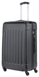 Пластиковый чемодан TravelZ Light (L) Black 927240