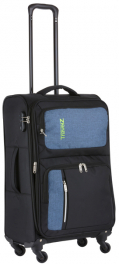 Легкий чемодан TravelZ Triple Pocket (M) Black 927261