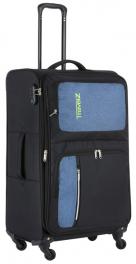 Легкий чемодан TravelZ Triple Pocket (L) Black 927262