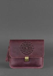 Кожаная женская бохо-сумка Blanknote Лилу BN-BAG-3-VIN-MAN-KR
