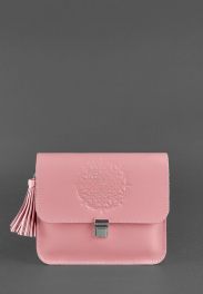 Кожаная женская бохо-сумка Blanknote Лилу BN-BAG-3-PINK-PEACH