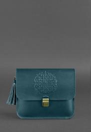 Кожаная женская бохо-сумка Blanknote Лилу BN-BAG-3-MALACHITE