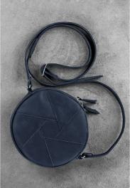 Кожаная круглая сумка Blanknote Бон-бон BN-BAG-11-NN