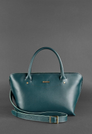 Кожаная женская сумка Blanknote Midi BN-BAG-24-MALACHITE