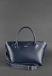 Кожаная женская сумка Blanknote Midi BN-BAG-24-NAVY-BLUE