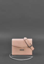 Кожаная поясная сумка Blanknote Mini BN-BAG-38-2-PINK