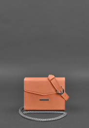 Кожаная поясная сумка Blanknote Mini BN-BAG-38-2-LIVING-CORAL