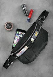 Кожаная сумка на пояс Blanknote Spirit BN-BAG-15-ONYX