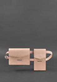 Кожаная сумка на пояс Blanknote Mini BN-BAG-38-PINK