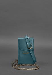 Кожаная сумка на пояс Blanknote Mini BN-BAG-38-1-MALACHITE