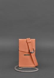 Кожаная сумка на пояс Blanknote Mini BN-BAG-38-1-LIVING-CORAL