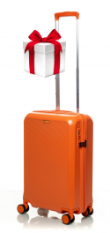 Чемодан из поликарбоната V&V Travel PC023-55 orange