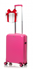 Чемодан из поликарбоната V&V Travel PC023-55 pink
