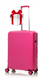 Чемодан из поликарбоната V&V Travel PC023-65 pink