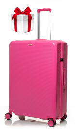 Чемодан из поликарбоната V&V Travel PC023-75 pink