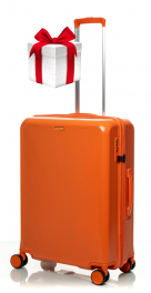 Чемодан из поликарбоната V&V Travel PC023-65 orange