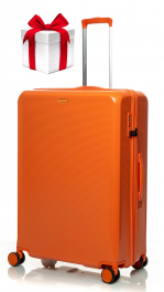 Чемодан из поликарбоната V&V Travel PC023-75 orange