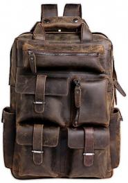 Мужской кожаный рюкзак Tiding Bag t3081DB