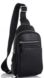 Кожаный черный слинг Tiding Bag SM8-807A